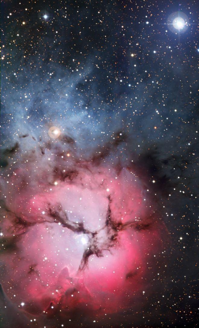 The beautiful Trifid Nebula in visible light