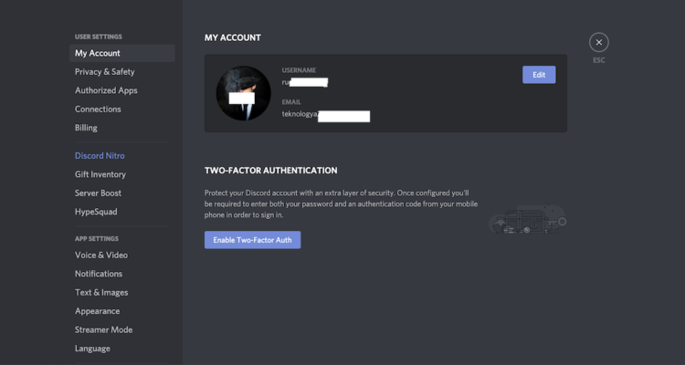 two factor discord